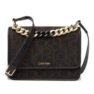 NEW! Calvin Klein Ariela Mesh Monogram Bag